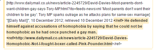 'He defended himself against accusations of homophobia by saying that he could not be homophobic as he had once punched a gay man.'