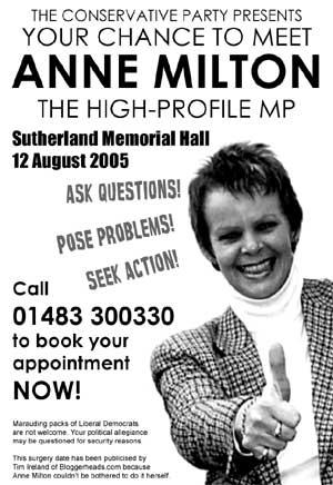 Anne Milton surgery poster