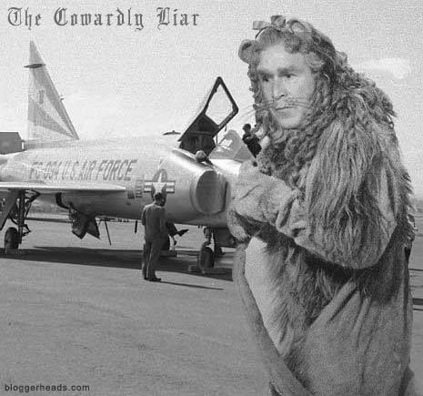 Bush - the cowardly liar
