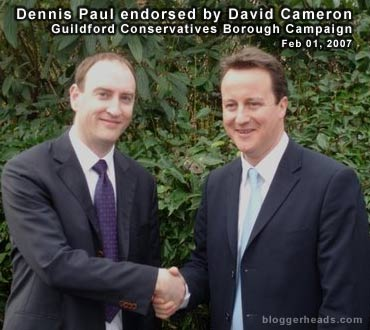 Dennis Paul and David Cameron