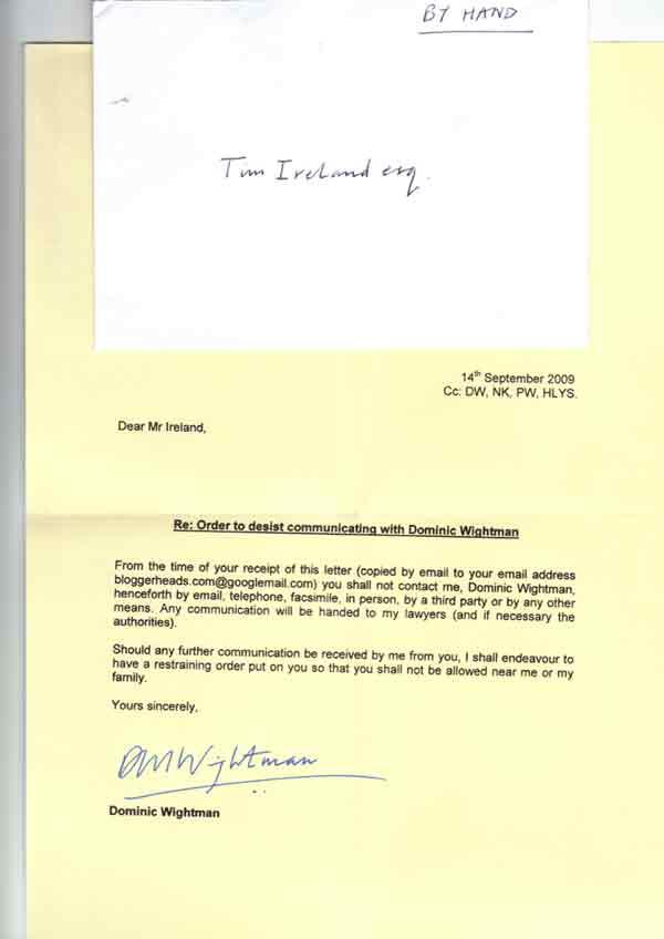 Wightman's letter