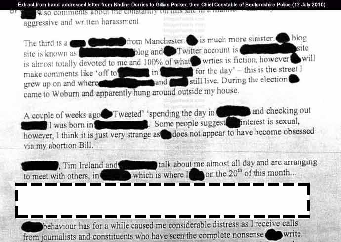 Extract from Dorries letter - Part 3