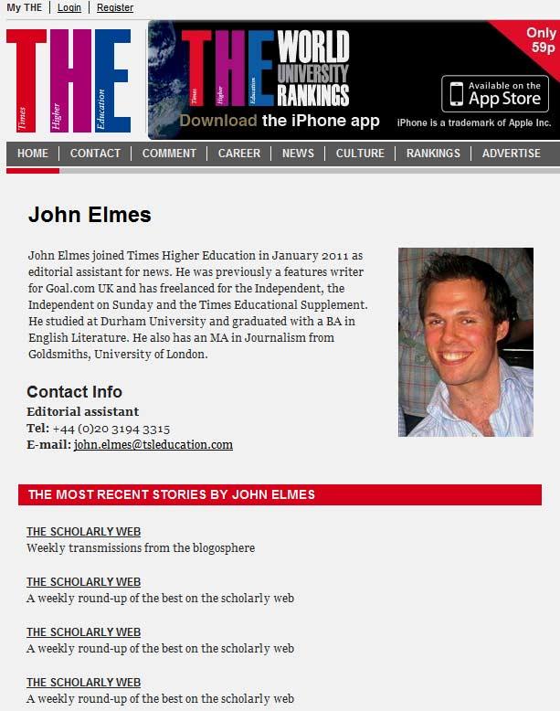 John Elmes: genius