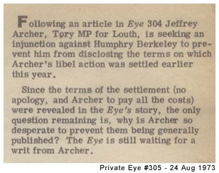 Private Eye 1973!