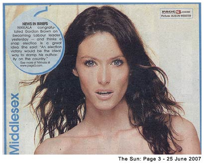 The Sun: Page 3 - 25 June 2007
