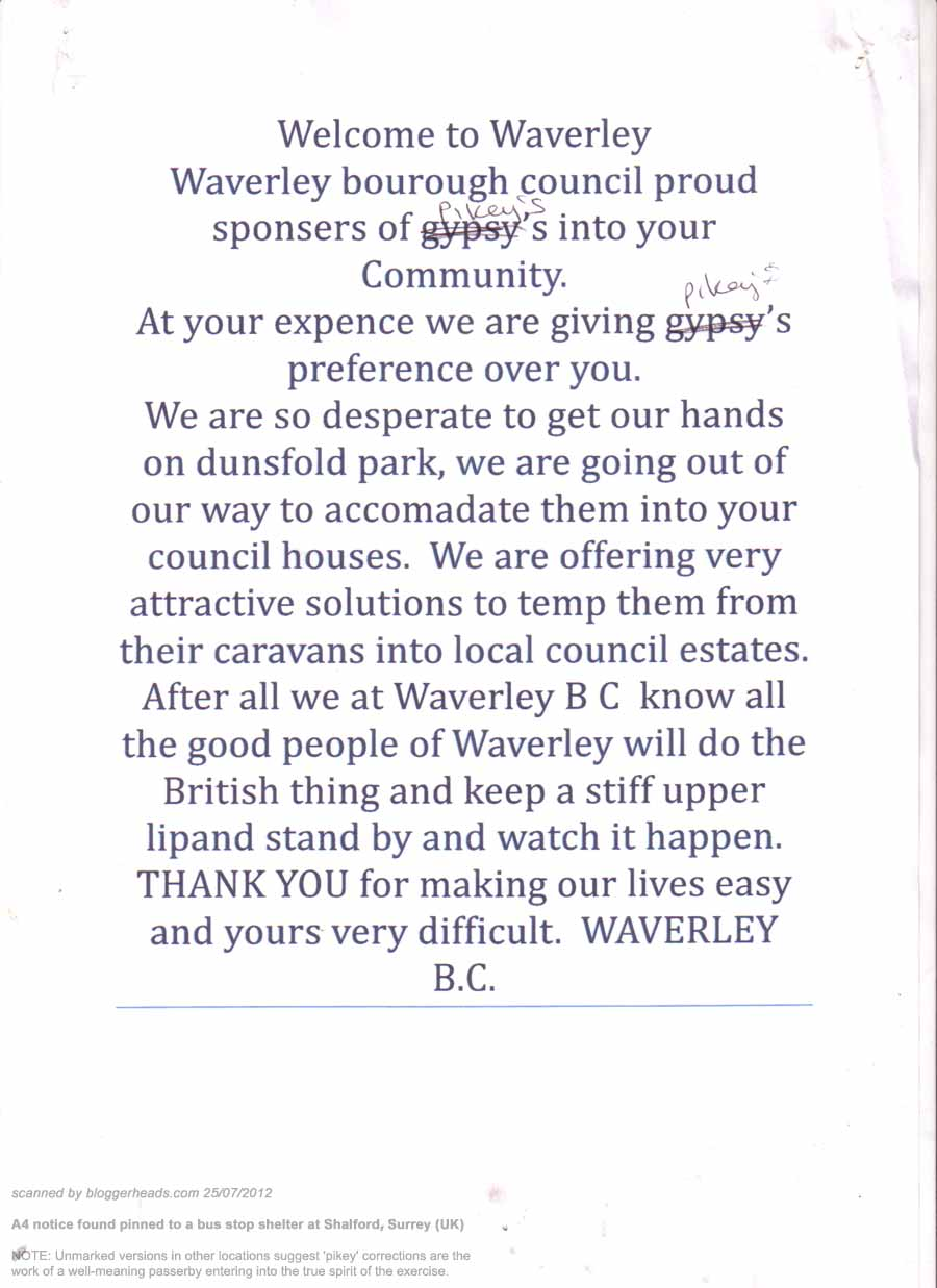scan of letter from local bigot