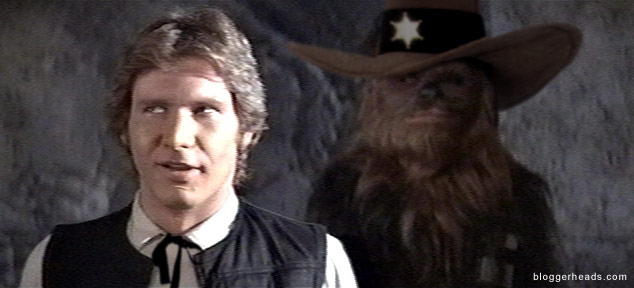 Han and Chewie star in 'For a Few Credits More'