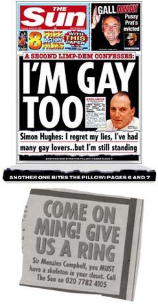 The Sun 'goes easy' on Simon Hughes