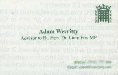 Adam Werrit's business card 01
