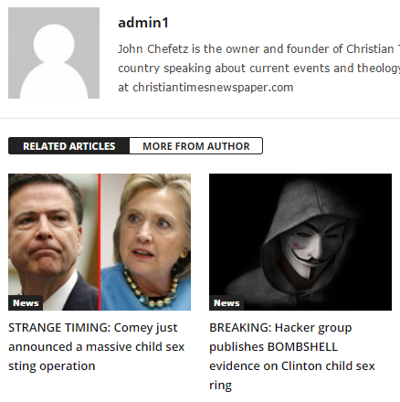 Screen capture from 'Christian Times', 2 days before the election